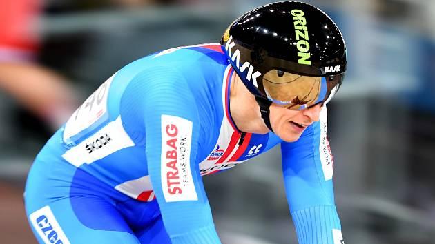 Dráhový cyklista brněnské Dukly Tomáš Bábek na mistrovství světa v Berlíně.