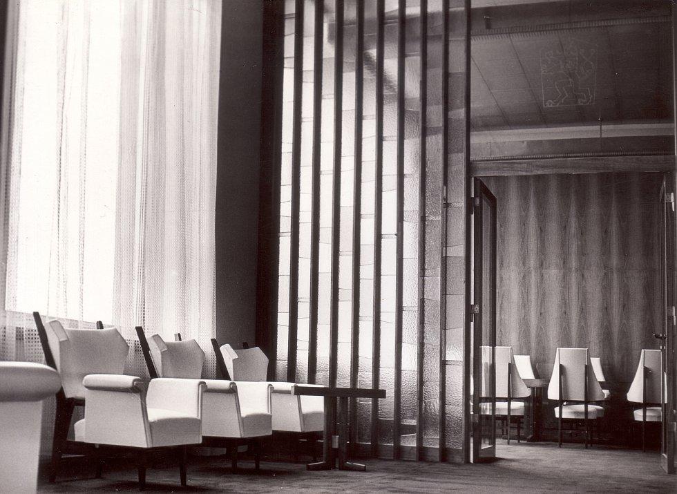 Primátorský salonek Janáčkova divadla v 60. letech 20. století.