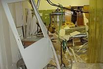 Výbuch v laboratoři ve Veverské Bítýšce.