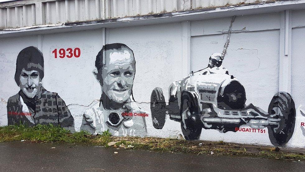 Křest graffiti ve starém depu Masarykova okruhu v Brně.