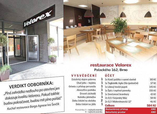 Restaurace Velorex na kraji sídliště vKrálově Poli nabízí hostům příjemný stylový interiér.