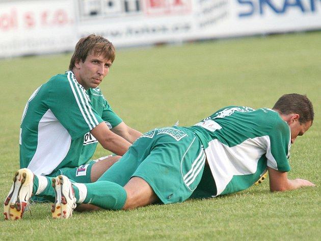Fotbalisté Bystrce Kasálek a Michal