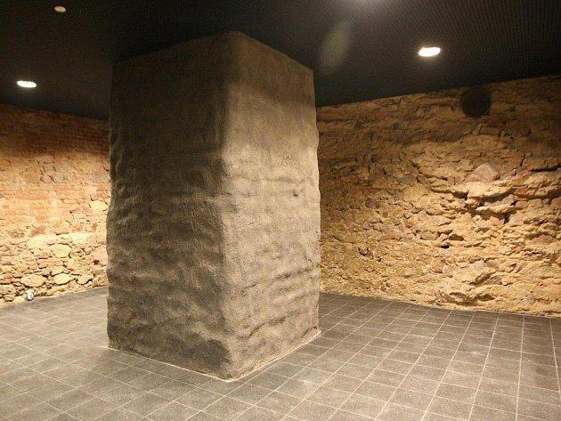 Obnovený mincmistrovský sklep pod brněnskou Novou radnicí.
