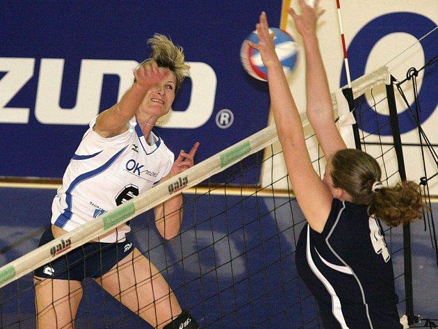 Královopolské volejbalistky byly v prvním finálovém utkání úspěšné.