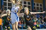 V prvním utkání čtvrtfinále play-off Ženské basketbalové ligy Žabiny Brno porazily Lokomotivu Trutnov 78:44. Foto: Jan Bartoš
