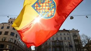 Happening za obnovu Moravského zemského sněmu.