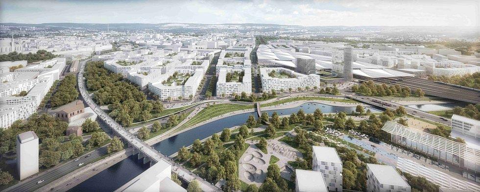Ideový návrh možné podoby nového hlavního železničního nádraží a jeho širokého okolí v Brně, který pochází z ideové soutěže z roku 2016. Skončil v ní na třetím místě.