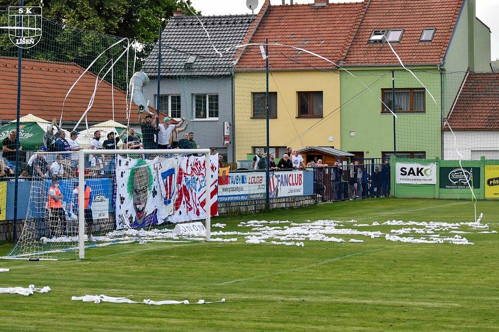 Mezi fanoušky fotbalové Líšně a Zbrojovky panuje rivalita, která byla znát i při městském derby ve FORTUNA:NÁRODNÍ LIZE.