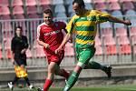 Díky dvěma přesným hlavičkám Pospěcha a Poláka vyhrála juniorka 1. FC Brno v utkání 22. kola MSFL nad Mutěnicemi 2:0.