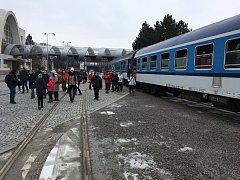 Příjezd Raška Expresu na brněnské výstaviště