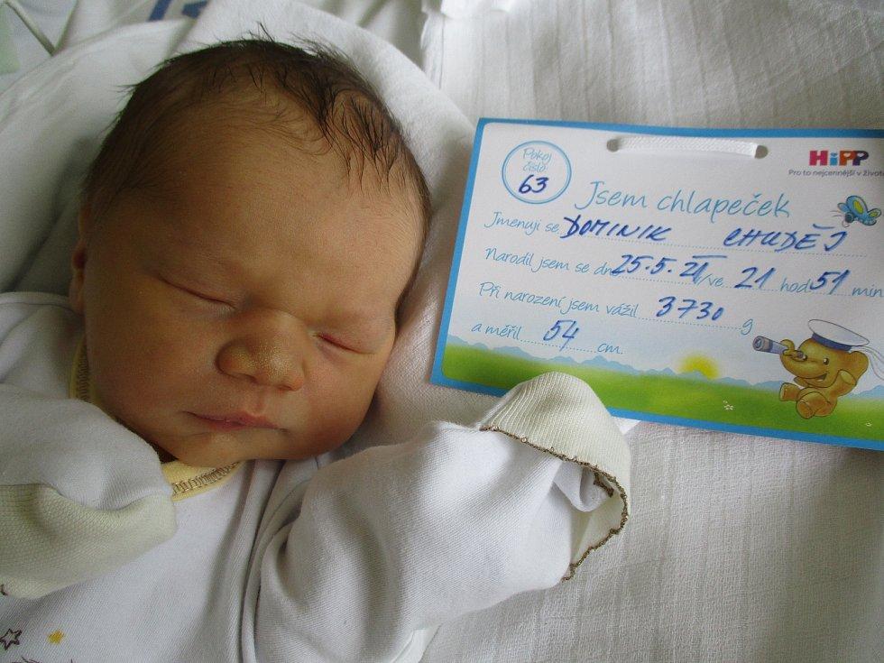 Dominik Chuděj, 25. května 2021, Perná, Nemocnice Břeclav, 3730 g, 54 cm