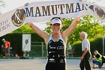 Triatlonový závod Mamutman 2018 na přerovské Laguně. Vítězka Helena Kotopulu.