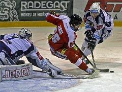 HC Olmouc vs. Kometa Brno (v bílém).
