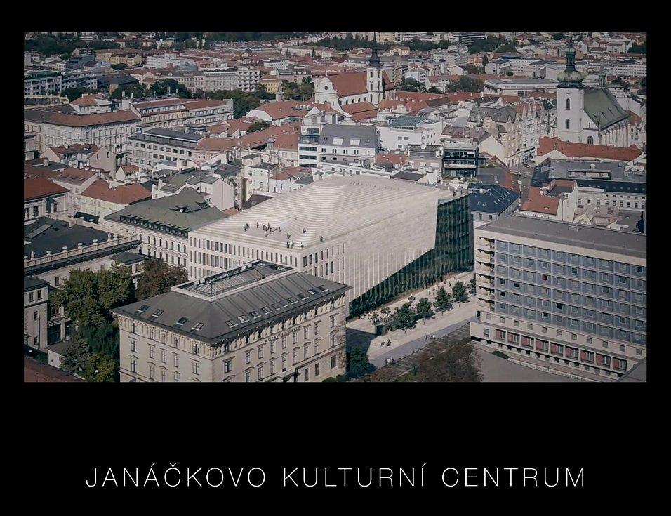 Vizualizace podoby Janáčkova kulturního centra v Brně.