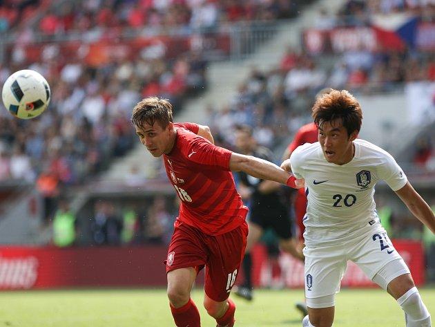 Josef Šural v přípravném utkání, kde proti českému výběru stála Jižní Korea.