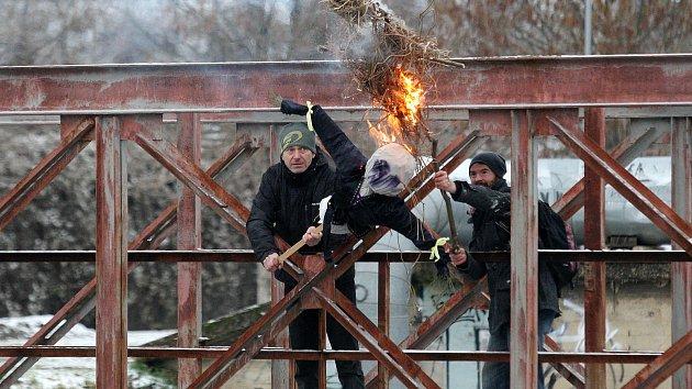 Pálení Mařeny v brněnských Černovicích