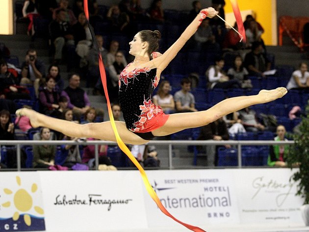 Tradiční brněnské Grand Prix v moderní gymnastice - Anna Šebková.