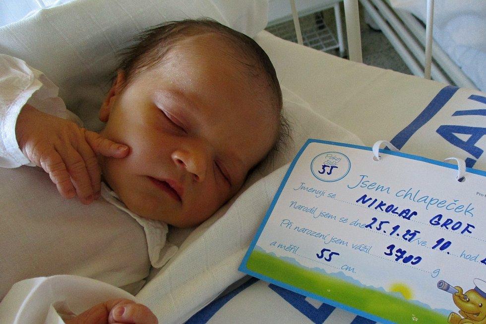 Nikolas Grof, 25. 1. 2021, Velké Bílovice, Nemocnice Břeclav, 3700 g, 55 cm