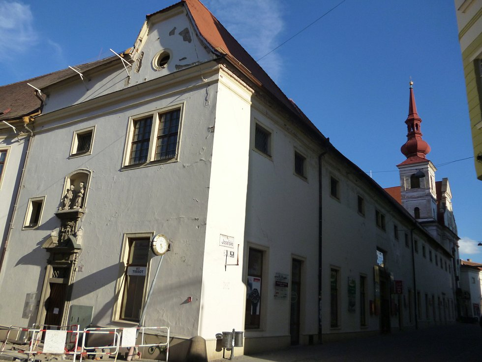 Klášter voršilek v Josefské ulici, který býval hlavním sídlem Technického muzea Brno.