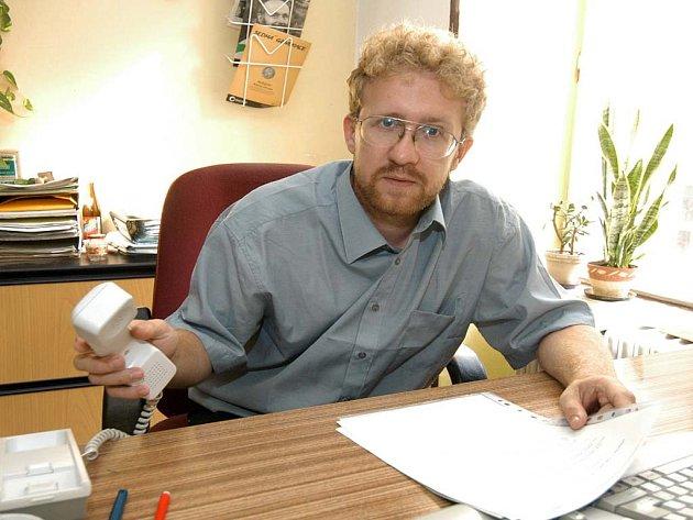 Náměstek Martin Ander, který odjel do Moskvy podepsat smlouvu.