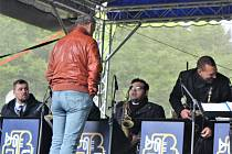 V sobotu dopoledne zahrál na počest svému zakladateli Rozhlasový Big Band Gustava Broma.