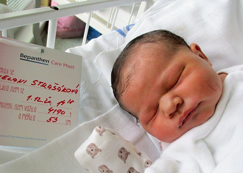 Melani Strašáková, 1. 12. 2020, Nemocnice Břeclav, Mikulčice, 4190 g, 53 cm