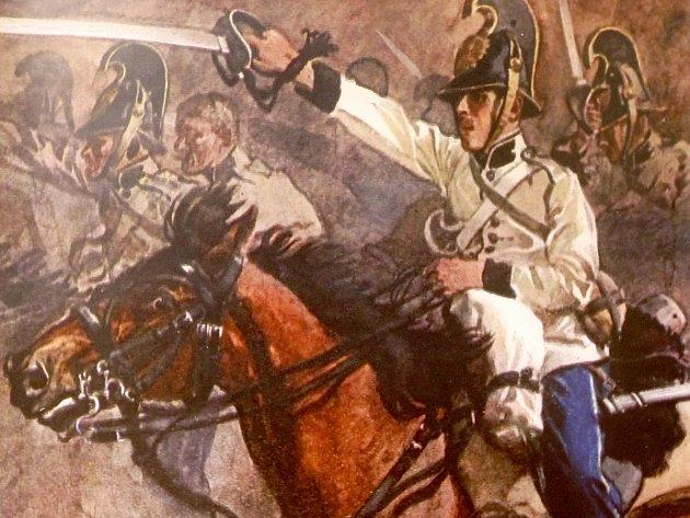 Z expozice Zapomenutá válka. Připomíná výročí 150 let od prusko-rakouské války.