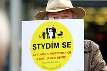 Asi dvě stovky lidí protestovaly na náměstí Svobody v Brně proti vládě a prezidentovi. Na pódiu řečníci vyjmenovávali nedostatky vedení státu a žádali demisi ministrů.
