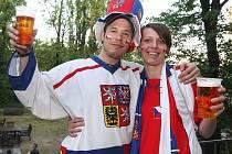Brňané fandili české hokejové reprezentaci, která nakonec porazila Finsko 5:3 a postoupila do semifinále mistrovství světa.
