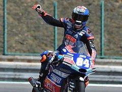 Vítěz kvalifikace Moto 3 Jakub Kornfeil.