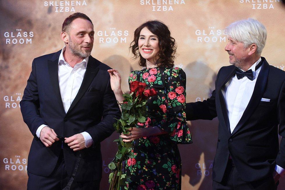 Brno 12.3.2019 - Slavnostní premiéra filmu Skleněný pokoj v brněnském univerzitním kině Scala - Roland Moller a Carice van Houten.