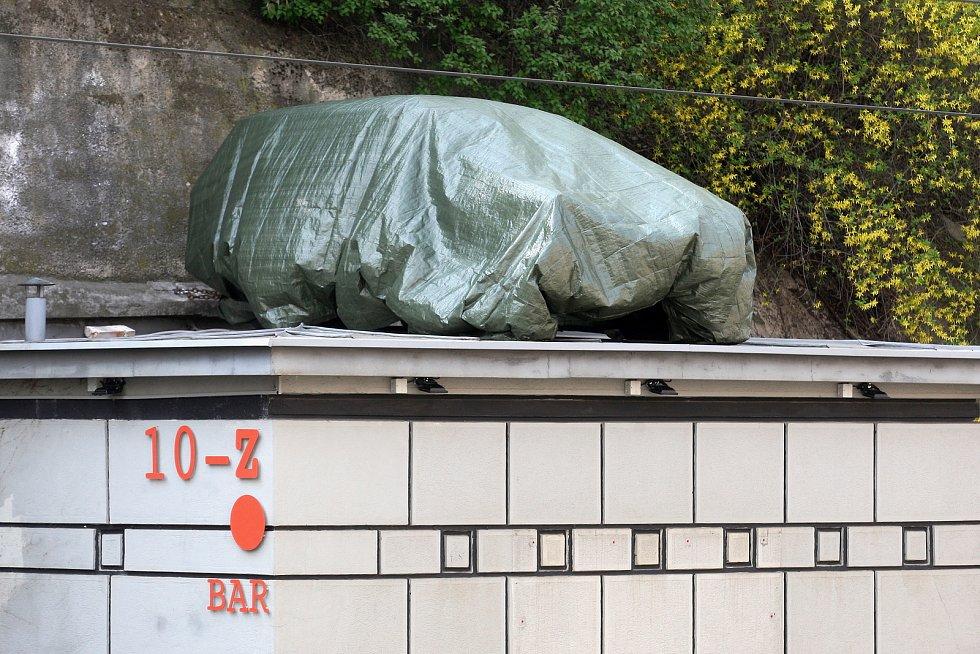 Trabant na krytu pod Špilberkem