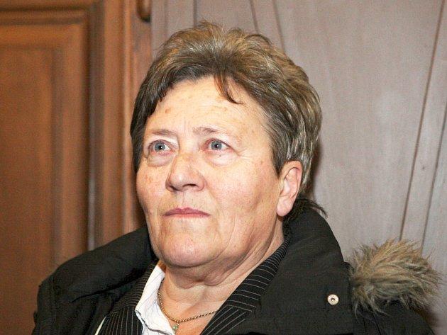 Dagmar Hrubá u brněnského městského soudu.