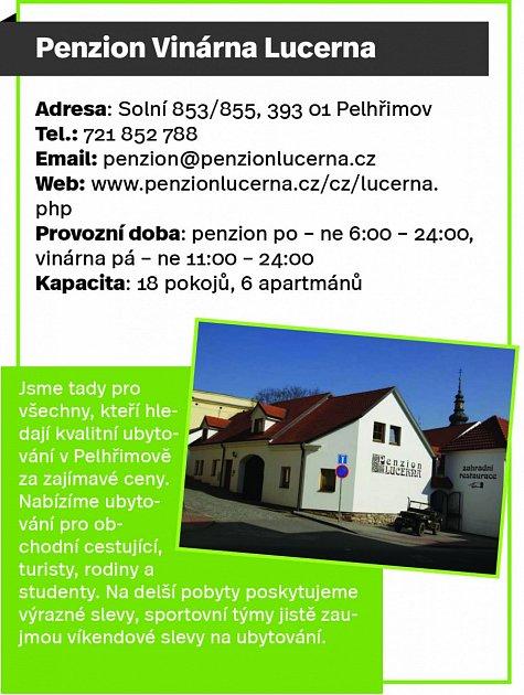 Penzion Vinárna Lucerna, Pelhřimov
