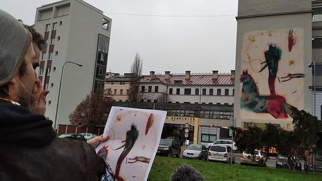 Městská galerie: Podívejte se na první čtyři obří obrazy v brněnském Cejlu