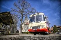 Retro autobus Karosa ŠM11, nejnovější přírůstek do sbírky retro vozů brněnského dopravního podniku.