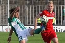 Zbrojovka (v červeném) podlehla Bohemians 0:1.