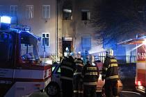 Požár v brněnské ulici Sýpka.