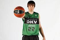 Brněnský basketbalista David Jelínek.