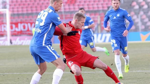 Zbrojovka porazila v prvním domácím zápase jarní části ligy Slovan Liberec těsně 1:0. Na snímku Michal Škoda.