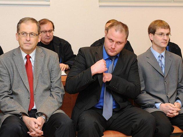 Lékaři z nemocnice Milosrdných bratří u soudu v Brně.