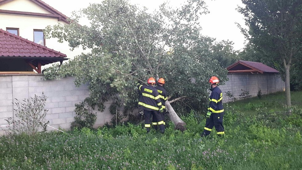 V souvislosti se silným větrem zasahovali jihomoravští hasiči ve středu 26. srpna u sedmnácti událostí.