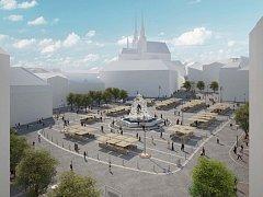 Návrh úprav Zelného trhu od architekta Tomáše Rusína.