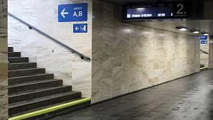 Slavnostní otevření opraveného příjezdového podchodu na brněnském hlavním nádraží