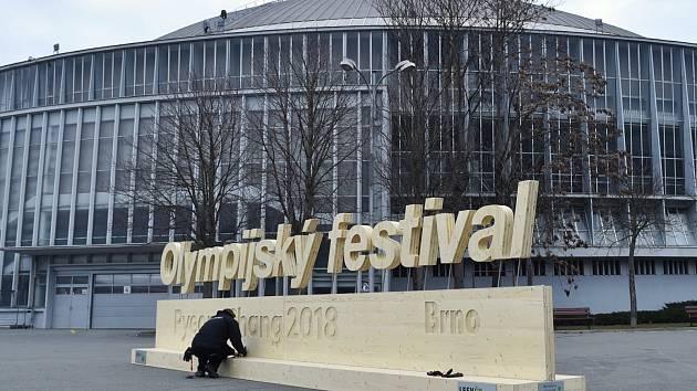 Olympijský park na brněnském výstavišti.