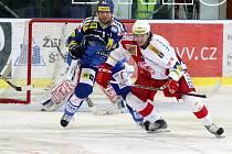 Brněnští hokejisté ztratili domácí neporazitelnost a Slavii Praha podlehli 3:4.