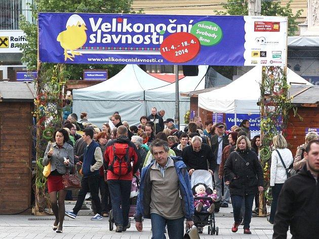 Velikonoční trhy v Brně.