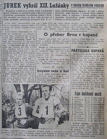 Co psala Rovnost ovítězství Miroslava Jurka vbřeznu 1959.
