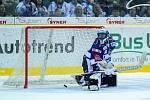 Utkání 50. kola Tipsport extraligy ledního hokeje se odehrálo 26. února 2017 v liberecké Home Credit areně. Utkaly se celky Bílí Tygři Liberec a HC Kometa Brno. Na snímku brankář Marek Čiliak, první gól Liberce.