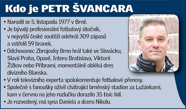 Bývalý profesionální fotbalový útočník Petr Švancara.